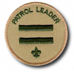 Patrol Leader Patch, 2 bars above a fleur-de-lis
